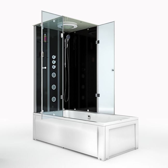 AcquaVapore DTP50-A304R Wanne Duschtempel Badewanne Dusche Duschkabine 90x180 – Bild 10