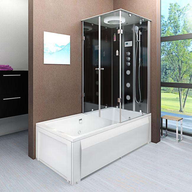 AcquaVapore DTP50-A305L Wanne Duschtempel Badewanne Dusche Duschkabine180x90 – Bild 1