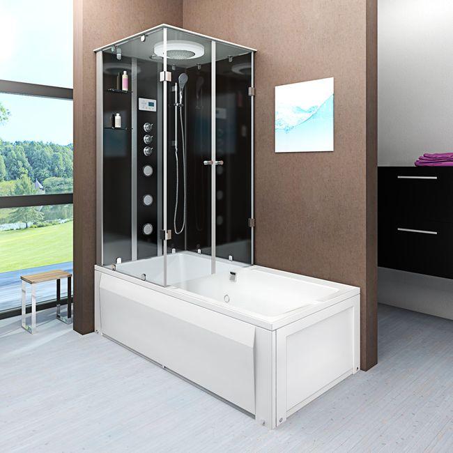 AcquaVapore DTP50-A305R Wanne Duschtempel Badewanne Dusche Duschkabine 90x180