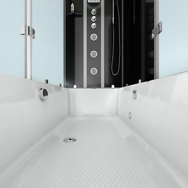 AcquaVapore DTP50-A305R Wanne Duschtempel Badewanne Dusche Duschkabine 90x180 – Bild 9