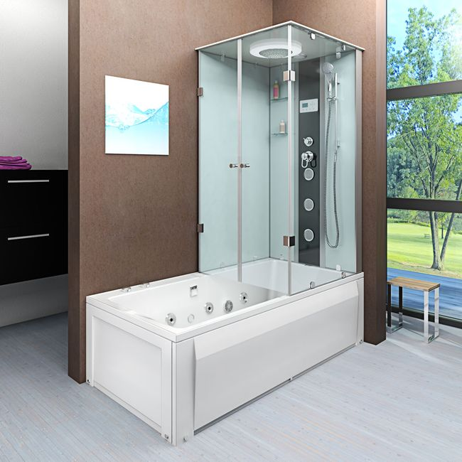 AcquaVapore DTP50 WS Whirlpool Wanne Duschtempel Dusche Duschkabine 180x90 – Bild 21