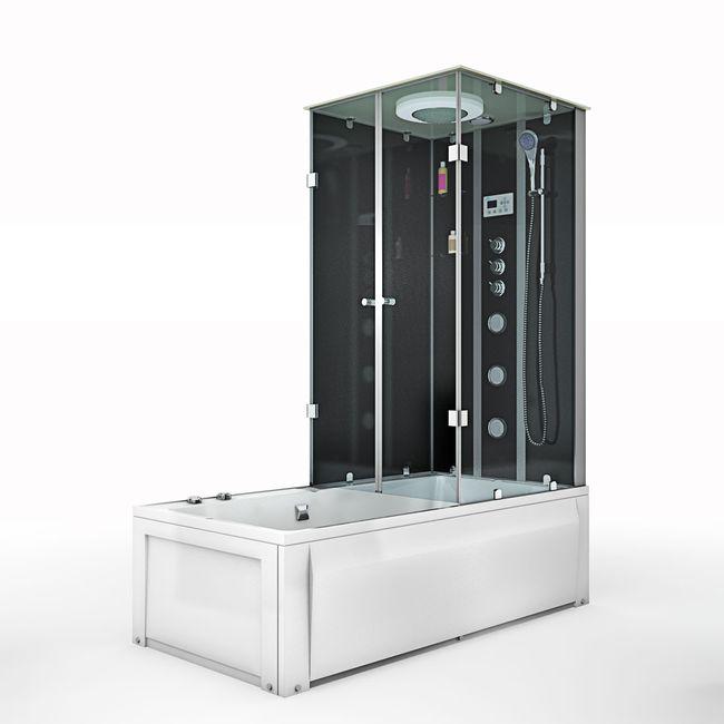 AcquaVapore DTP50 SW Whirlpool Wanne Duschtempel Dusche Duschkabine 180x90 – Bild 4