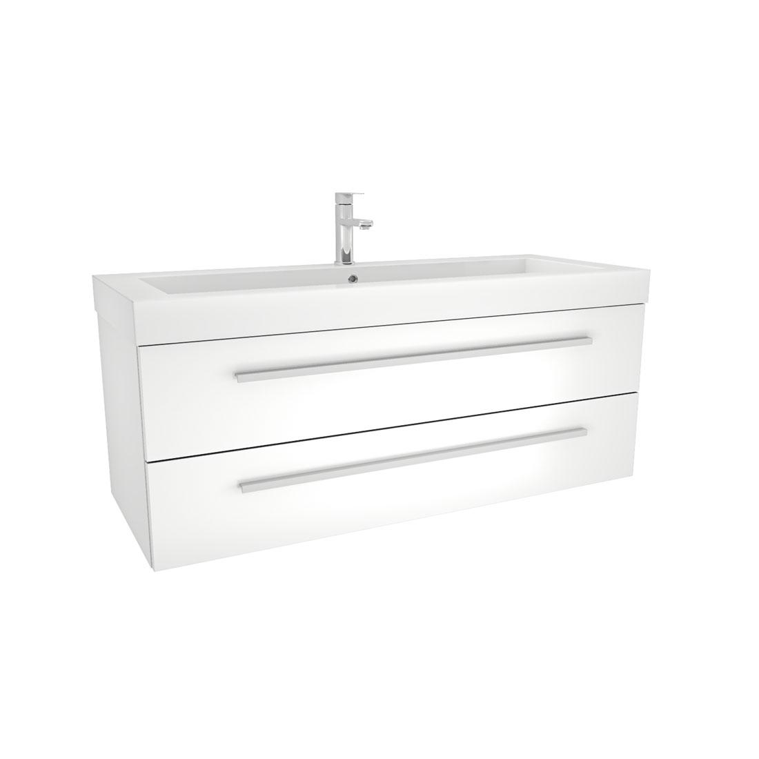 Badezimmer Unterschrank Weiß   Badmobel Set City 101 V1 Hochglanz Weiss Badezimmermobel Waschtisch