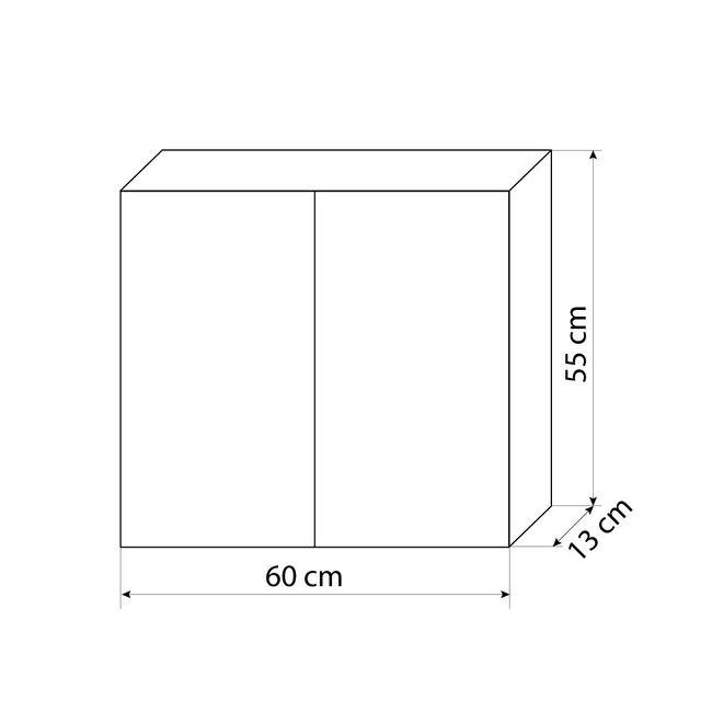 Badmöbel Set Gently 2 V2-R Hochglanz weiß, Badezimmermöbel, Waschtisch 60cm – Bild 9
