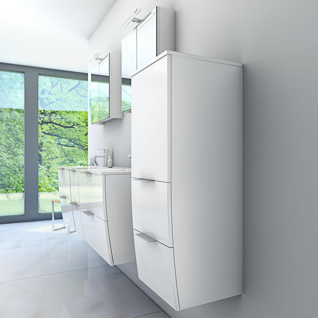 badm bel set gently 2 v4 r hochglanz wei badezimmerm bel waschtisch 60cm. Black Bedroom Furniture Sets. Home Design Ideas