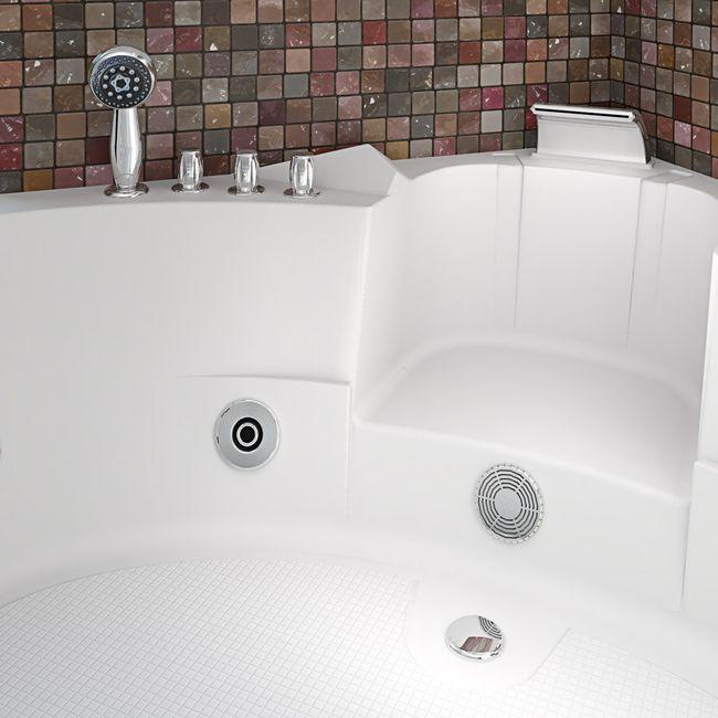 Whirlpool Pool Badewanne Eckwanne Wanne A1505-ALL 140x140cm Reinigungsfunktion – Bild 19