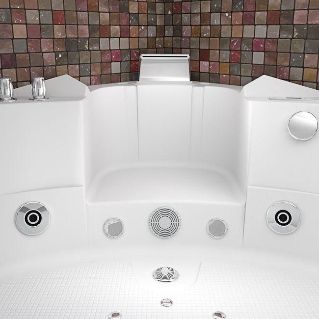 Whirlpool Pool Badewanne Eckwanne Wanne A1505-ALL 140x140cm Reinigungsfunktion – Bild 10