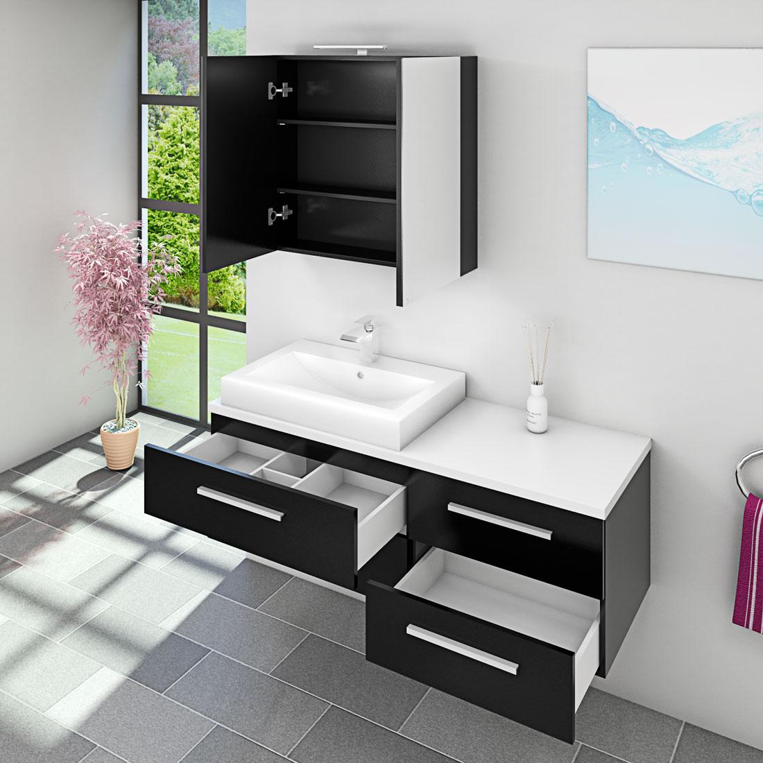 waschtisch mit waschbecken unterschrank city 210 140cm. Black Bedroom Furniture Sets. Home Design Ideas