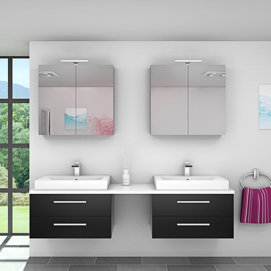 badm bel set city 207 v1 esche schwarz badezimmerm bel. Black Bedroom Furniture Sets. Home Design Ideas