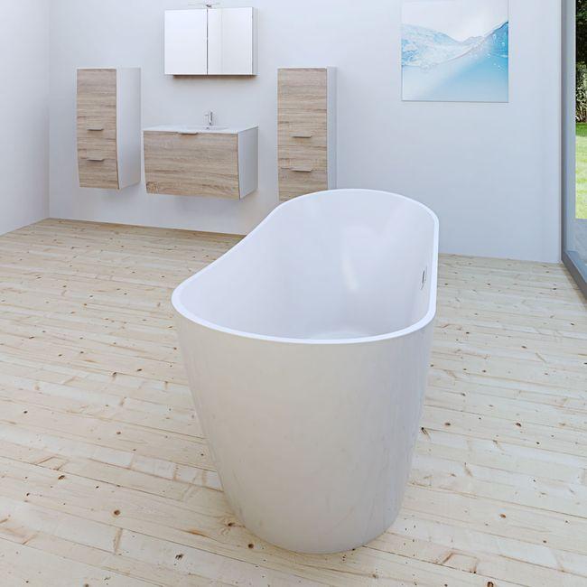AcquaVapore freistehende Badewanne Wanne Acryl FSW03 180x80cm Armatur wählbar – Bild 10