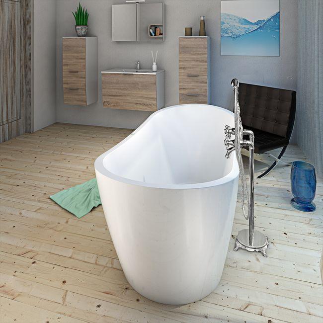 AcquaVapore freistehende Badewanne Wanne FSW13 180x80cm Whirlpool Luftmassage – Bild 17