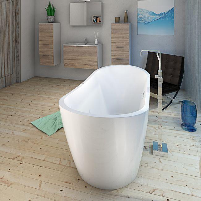 AcquaVapore freistehende Badewanne Wanne FSW13 180x80cm Whirlpool Luftmassage – Bild 3