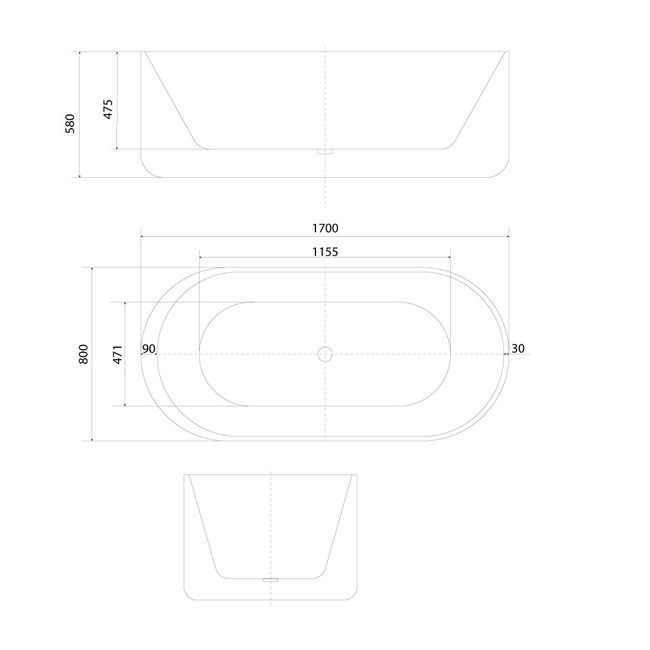 AcquaVapore freistehende Badewanne Wanne Acryl FSW06 170x80cm Armatur wählbar – Bild 22