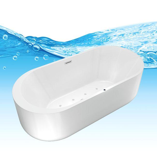 AcquaVapore freistehende Badewanne Wanne Whirlpool FSW16 170cm mit Luftmassage – Bild 11