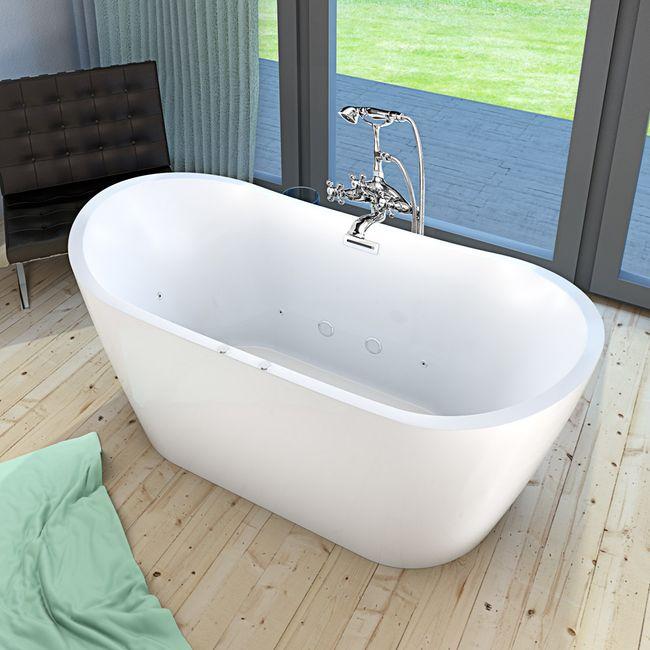 AcquaVapore freistehende Badewanne FSW23 180cm Whirlpool Luft & Wasser – Bild 15
