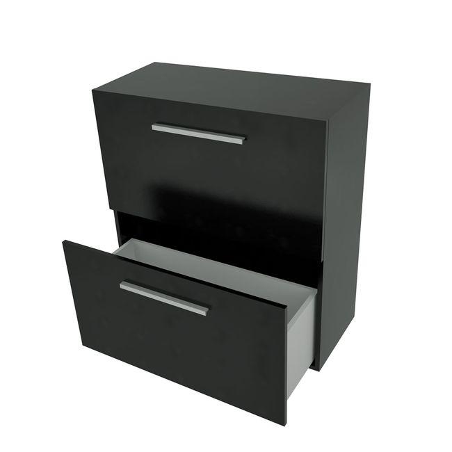 Badmöbel Set City 100 V5 Esche schwarz, Badezimmermöbel, Waschtisch 100cm – Bild 13