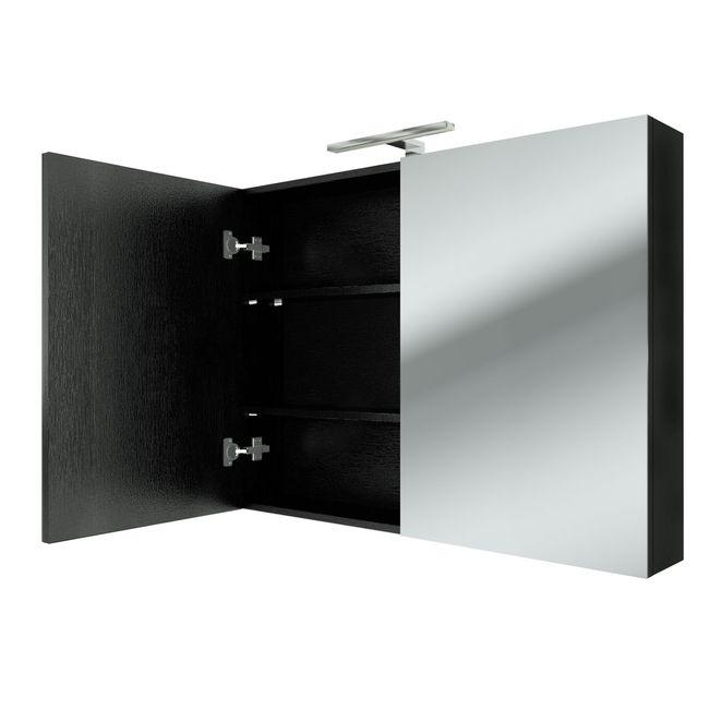 Badmöbel Set City 100 V7 Esche schwarz, Badezimmermöbel, Waschtisch 100cm – Bild 8