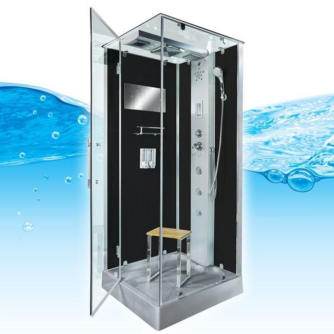 AcquaVapore DTP6038 SW Dampfdusche Dusche Duschtempel 80x80 90x90 100x100 – Bild 4