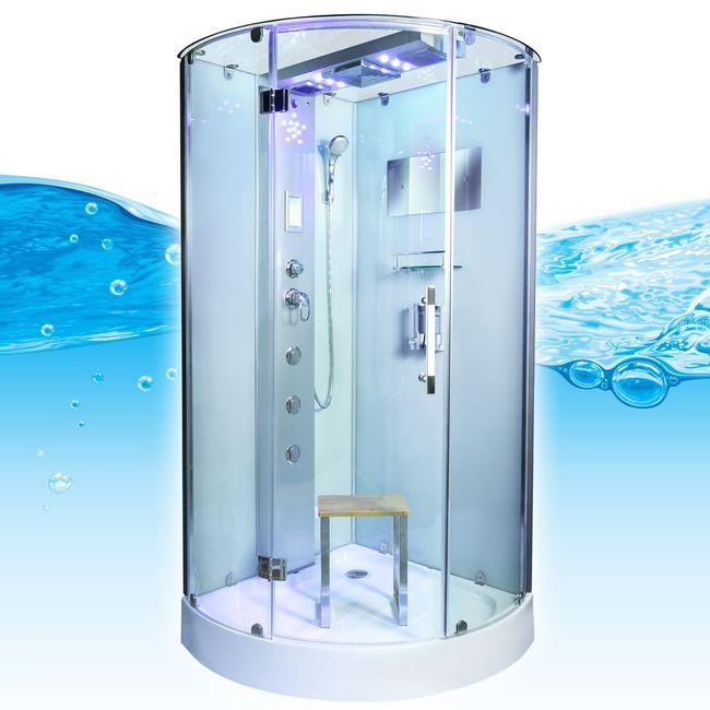 AcquaVapore DTP6037 WS Dampfdusche Dusche Duschtempel 80x80 90x90 100x100 – Bild 8