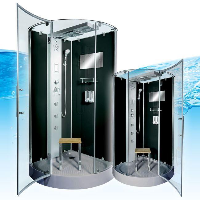 AcquaVapore DTP6037 SW Dampfdusche Dusche Duschtempel 80x80 90x90 100x100 – Bild 3