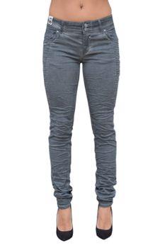 COCCARA Damen Jeans Hose BELLA EASY RIDER CN932 anthra grau Slim Fit – Bild 3