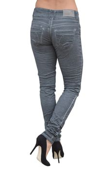 COCCARA Damen Jeans Hose BELLA EASY RIDER CN932 anthra grau Slim Fit 001