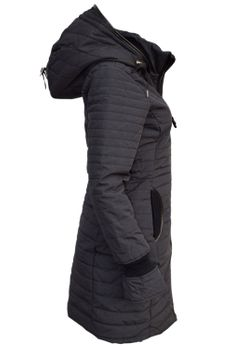 KHUJO Damen Wintermantel Stepp-Mantel DAILY schwarz & weinrot – Bild 6