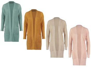 ONLY Damen Oversize Maxi Strick Jacke onlANNA L/S SLIT CARDIGAN KNT – Bild 1