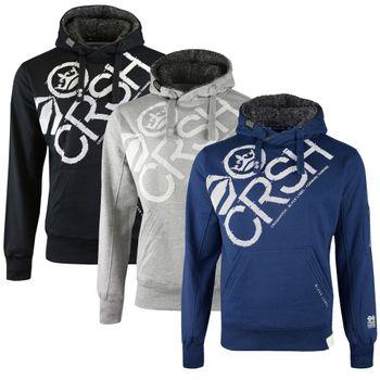 CROSSHATCH Herren Sweatshirt Pullover FLASHPOINT BORG LINED HOOD Kapuze 001