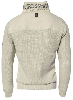 CROSSHATCH Herren Strick Pullover Troyer GARFORTH CH HEAVY KNIT HI NECK – Bild 5