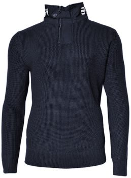 CROSSHATCH Herren Strick Pullover Troyer GARFORTH CH HEAVY KNIT HI NECK – Bild 2