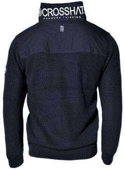 CROSSHATCH Herren Strick Pullover Troyer GARFORTH CH HEAVY KNIT HI NECK – Bild 3