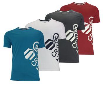 CROSSHATCH Herren T-Shirt NAZMIN PKB CH SIDE PRINT T kurzarm – Bild 1