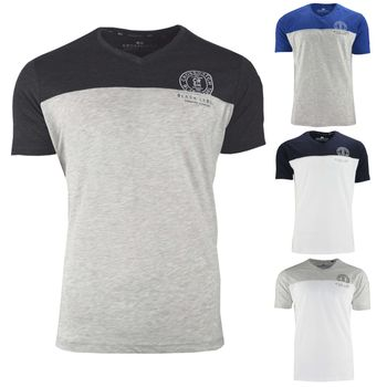 CROSSHATCH Herren T-Shirt KEEMAR CH PANELLED T TWO COLS kurzarm – Bild 1