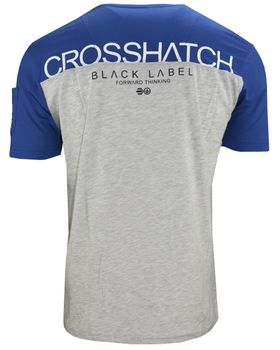 CROSSHATCH Herren T-Shirt KEEMAR CH PANELLED T TWO COLS kurzarm – Bild 5