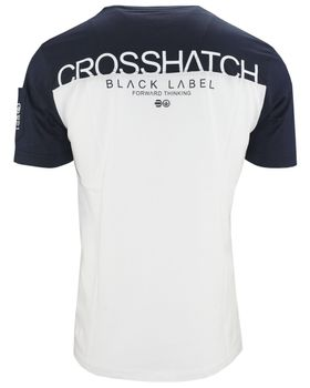 CROSSHATCH Herren T-Shirt KEEMAR CH PANELLED T TWO COLS kurzarm – Bild 7