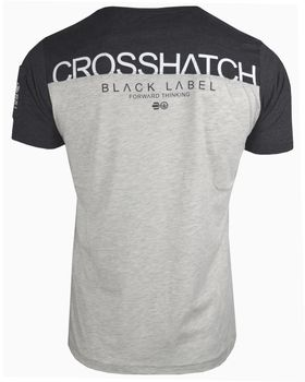 CROSSHATCH Herren T-Shirt KEEMAR CH PANELLED T TWO COLS kurzarm – Bild 3