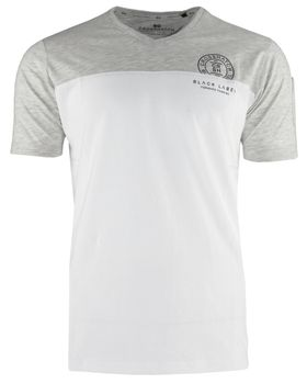 CROSSHATCH Herren T-Shirt KEEMAR CH PANELLED T TWO COLS kurzarm – Bild 8