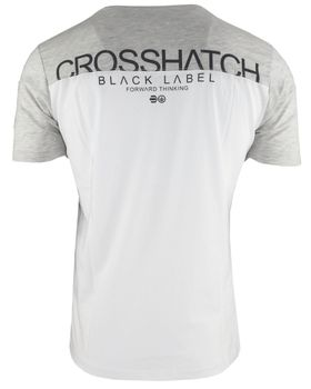 CROSSHATCH Herren T-Shirt KEEMAR CH PANELLED T TWO COLS kurzarm – Bild 9