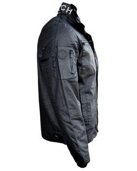 CROSSHATCH Herren Übergangs-Jacke PLIXXED MVR COTTON COATED schwarz – Bild 4