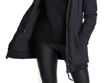 ONLY Damen Winterjacke onlVALENCIA LONG HOODED JACKET Parka Jacke Mantel – Bild 6