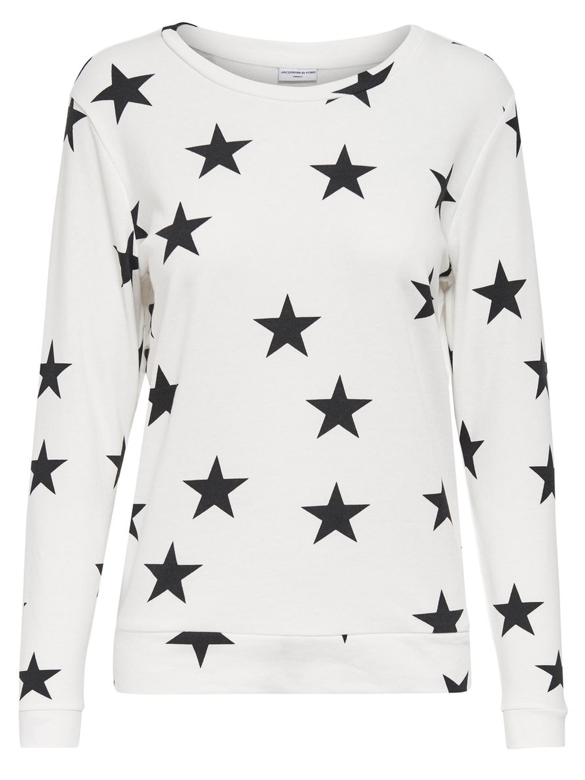 promo code e6d86 6cc22 JDY by ONLY Damen Sweatshirt Pullover jdyNAOMI L/S PULLOVER Sweat Sterne