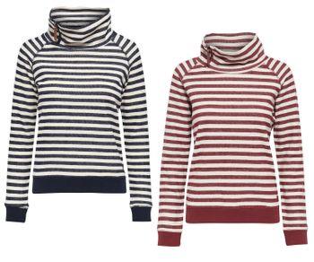 ONLY Damen Sweat-Shirt Pullover onlSIAN L/S HIGHNECK SWT Streifen Hoodie