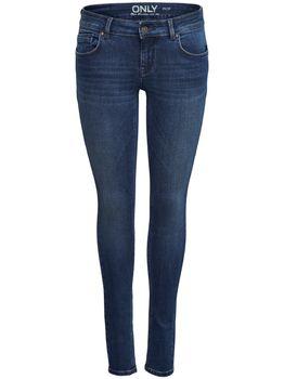 ONLY Damen Skinny  Hüft Jeans onlDYLAN LOW SK PUSHUP DNM REA1458 NOOS dunkelblau – Bild 1