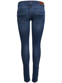 ONLY Damen Skinny  Hüft Jeans onlDYLAN LOW SK PUSHUP DNM REA1458 NOOS dunkelblau – Bild 2