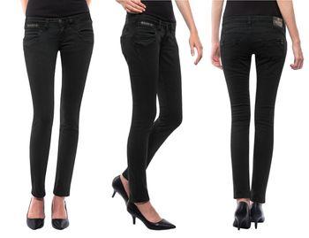 HERRLICHER Damen Jeans PIPER SLIM 5650 DB840 671 tempest schwarz Denim Stretch
