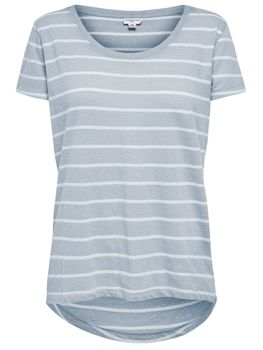 JDY by ONLY Damen T-Shirt jdyCOAST STRIPE TOP Streifen oversize vokuhila – Bild 5