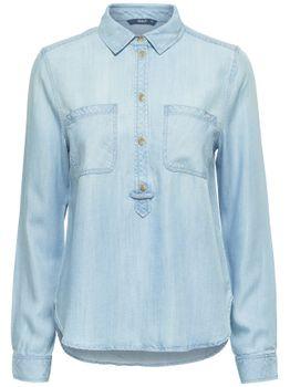 ONLY Damen Jeans Hemd Bluse Tunika Top onlMAJA LS BF DNM SHIRT QYT NOOS