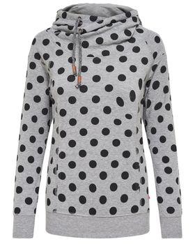 ONLY Damen Sweatshirt Pullover onlCAMMI L/S HOOD SWT Punkte Hoodie Kapuze – Bild 4