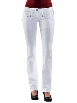 HERRLICHER Damen Jeans PITCH SLIM 5303 SN560 100 white weiß Drill Stretch – Bild 2